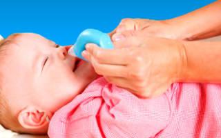 У грудного ребенка заложен нос что делать