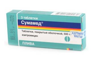 Ангина лечение антибиотиками сумамед