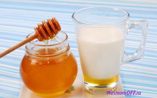 Теплое молоко с медом при простуде