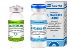 Инъекции цефазолин