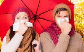 Застуда симптомы