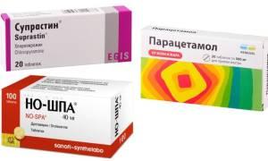 Парацетамол и супрастин