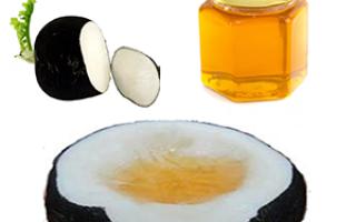 Лекарство от кашля редька с медом