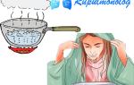 Ингаляция от кашля картошкой