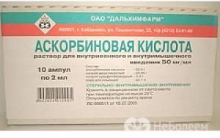 Инструкция аскорбиновая кислота
