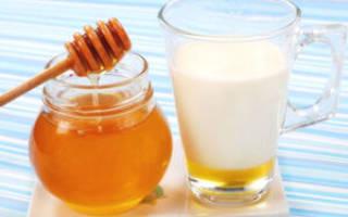 При простуде молоко с медом и маслом